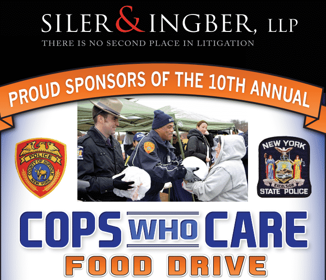 "Siler & Ingber at ""Cops Who Care"" Food Drive"