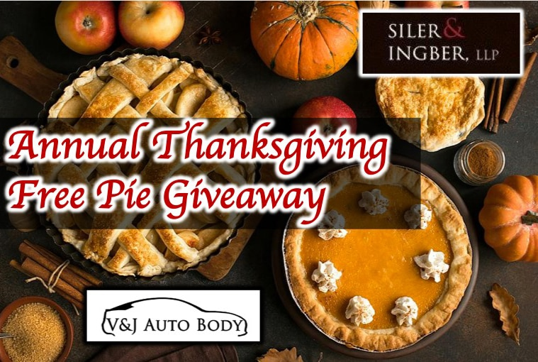 Annual Thanksgiving Free Pie Giveaway