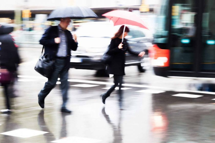 How does Wet Conditions on Sidewalks and Pavement Contribute to Slip & fall accidents?