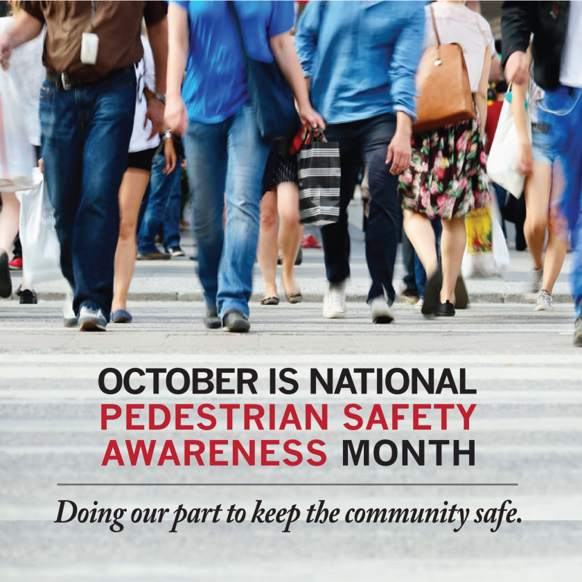 October Launches National Pedestrian Safety Month